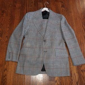Vintage Suit, Gray Plaid